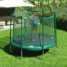 12' Trampoline with Enclosure - FREE Shipping at Yardkid.com #JumpFree #KidWise #Trampoline