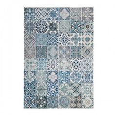alfombra Mozaik Chenille azul