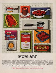 1965 Mom Pop Art Campbell's Soup print ad Campbell's by Vividiom, $9.00