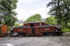 A Double Fairlie Locomotive of the Ffestiniog Railway. Heritage Railway, Ambulance, Bridges, Antique Cars, Transportation, Train, Spaces, Live, Country