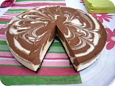 Tarta de Queso y dos Chocolates | Comparterecetas.com