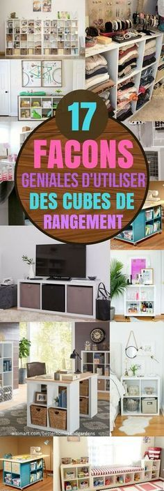 Les cubes de rangements sont très populaires en ce moment, car ils sont très efficaces pour avoir une maison bien organisée. Et qu'importe la taille de votre maison ! Vous pouvez les utiliser dans n'importe quelles pièces pour ranger et organiser à peu près tout ce que vous souhaitez. Il y a mille et une façons de les utiliser. En plus, ils ne sont pas très chers et vous pouvez les acheter dans quasiment...#trucs #trucsetastuces #astuces #rangement #organisation #astucesikea #cubes #ikea Cubes Ikea, Home Organisation, Mille, Home Staging, Interior Design Living Room, Diy Furniture, Ranger, Sweet Home, New Homes