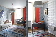 Стильный интерьер кабинета в стиле фьюжн