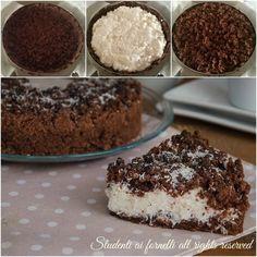 sbriciolata cioccolato e cocco passo passo ricetta dolce crostata torta