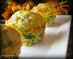 Broccoli Cheddar and Sausage Egg Muffin Pull-A-Parts | Picky Palate