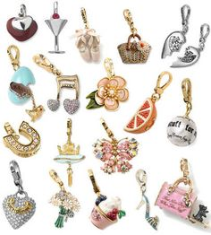 Elegant charms make great gift toppers....limited only by your imagination
