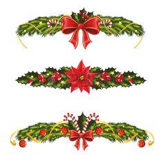 Set of christmas banners