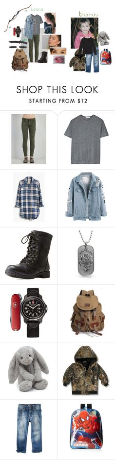"""""""Walking Dead OC"""" by lovelyalienbabe ❤ liked on Polyvore featuring T By Alexander Wang, Madewell, Charlotte Russe, Bling Jewelry, Victorinox Swiss Army, Friedman and Jellycat"""