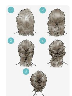 Simple everyday hairstyles for short hair- Einfache Alltagsfrisuren für kurzes Haar Simple everyday hairstyles for short hair hair it Yourself - Easy Everyday Hairstyles, Work Hairstyles, Pretty Hairstyles, Hairstyles 2018, Bob Updo Hairstyles, Beautiful Haircuts, Teenage Hairstyles, School Hairstyles, Latest Hairstyles