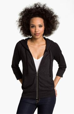 James Perse Textured Hoodie available at Nordstrom