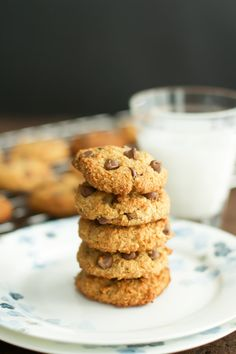 These delicious Almond Flour Chocolate Chip Cookies are going to melt in your mouth. They are soft and chewy and full of protein from the almond flour.