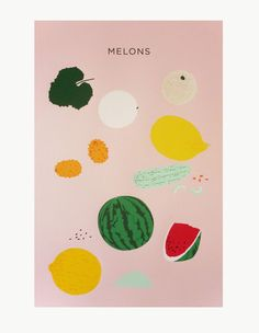 Claire Nereim Melons Print | Dream Collective