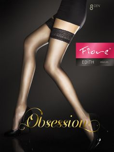 6da3c3a963714e Sensuous 8 Denier Hold Ups with a sexy lace top. 8 Denier Sheer leg  Invisibly reinforced toe for elegance Made from single-covered elastane  yarn for ...