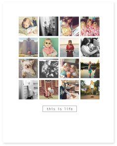 Put your instagram photos on display using these fun instagram collage templates! #instagram #photography #decor