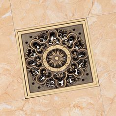 "Free Shipping Antique Brass 4"" Square Floor Drain Cover Decorative Floor Waste  #Khann"