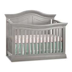 Sorelle Providence 4-In-1 Convertible Crib In Stone Grey - Infuse your nursery with the traditional charm of the Providence 4-in-1 Convertible Crib from Sorelle. Versatile crib boasts striking panels and attractive flowing curves. With conversion kits, the crib can transition to a toddler or full bed. Find Furniture, Baby Furniture, Grey Nursery Furniture, Buy Buy Baby Cribs, Crib Accessories, Wooden Cribs, Nursery Furniture Collections, Girl Cribs, Baby Room Decor