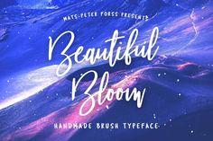 Beautiful Bloom - Free Brush Font on Behance Handwritten Script Font, Typography Fonts, Hand Lettering, Lettering Styles, Serif Font, Lettering Tutorial, Calligraphy Fonts, Modern Calligraphy, Wedding Fonts