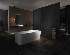 Esta semana queremos centrarnos en el diseño minimalista para cuartos de baño en tonalidades oscuras, no se pierdan estas fabulosas imágenes.