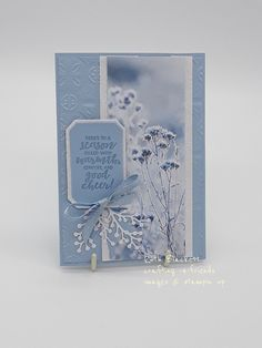 Feels like Frost stampin'up with first frost Homemade Christmas Cards, Stampin Up Christmas, Xmas Cards, Holiday Cards, Stampin Up Weihnachten, Winter Karten, Karten Diy, Snowflake Cards, Stamping Up Cards