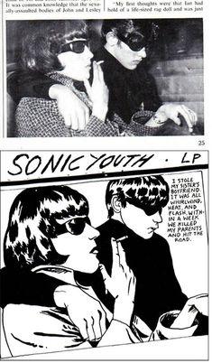"Raymond Pettibon, album cover for ""Goo"" by Sonic Youth"