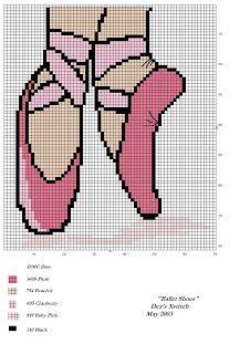 Cross stitch sneakers, sneaker-piedi ballerina | Cross Stitch Charts