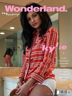 Back to basics: Kylie Jenner has posed on the cover for London based fashion magazine Wonderland, showing off a stripped back look