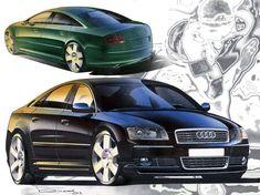 On formtrends.com  #Audi A8 (D3) renderings by exterior lead designer Dany Garand > https://www.formtrends.com/revisiting-audi-a8-d3-design/