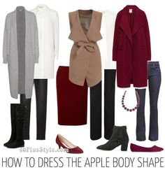 How to dress the apple body shape the best tops and bottoms | 40plusstyle.com