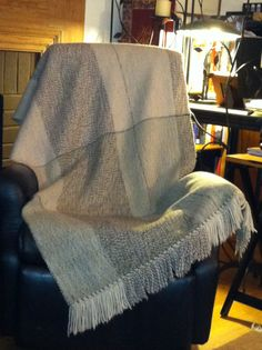 New wool blanket off the loom today