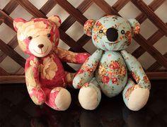 Stuffed Teddy Bear & Koala sewing pattern softie stuffed animal toy by XanthePatterns on Etsy https://www.etsy.com/listing/217180024/stuffed-teddy-bear-koala-sewing-pattern