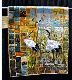 Sandhill Cranes quilt by godutchbaby.