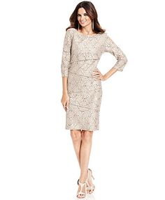 (communion outfit for mothers) Ronni Nicole Tiered Sequin Lace Dress $99
