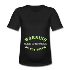 Create custom t-shirts, personalized shirts and other customized apparel at Spreadshirt. Print your own shirt with custom text, designs, or photos. Funny Pregnancy Shirts, Funny Maternity, Maternity Shirts, Baby Inside, Personalized Shirts, Custom Clothes, Touch, Bigfoot, Baby Ideas