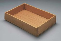Joseph Beuys, Intuition, 1966, Wooden box with pencil line and handwritten addition, 30,2 x 21 x 5,1 cm, The Museum of Fine Arts, Boston