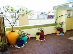 66 Ideas Apartment Garden Balcony Creative For 2019 Apartment Balcony Garden, Small Balcony Garden, Apartment Balcony Decorating, Apartment Balconies, Cool Apartments, Terrace Garden, Apartment Gardening, Balcony Ideas, Indian Home Decor