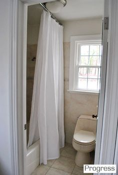 Move curtain rod to just below ceiling
