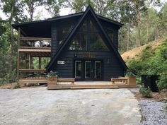 Brand New A Frame Cabin! A Frame Cabin, A Frame House, Tiny House Cabin, Cabin Homes, Cabins In The Woods, House In The Woods, Cabin Design, House Design, Architecture Design