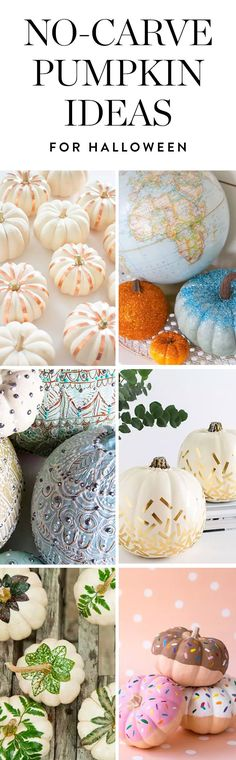 If you're hoping to shake up your Halloween decor this year (sans pumpkin goo, that is), why not swap the serrated knives and ghoulish grins for simple, gorgeous alternatives? Try these no-carve pumpkin decorating ideas here.