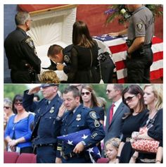 Kye was a 3-year-old Belgian  Shepard. He worked as a K-9 with the Oklahoma City Police Department. Kye was killed in the line of duty last month.  And was just given a full police burial. The K-9's casket was draped in an American flag, and on each side of the casket was an officer in full uniform standing guard. The service included full police honors and a 21-gun salute. Photo credit: Sue Ogrocki/AP