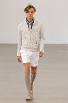 agnès b. Spring 2013 Menswear Collection - Fashion on TheCut - hats, ties, monocromatic
