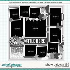 Page Template, Layout Template, Photo Drop, Drop Shadow, Buy Photos, Scrapbook Templates, Page Layout, Digital Scrapbooking, Ads