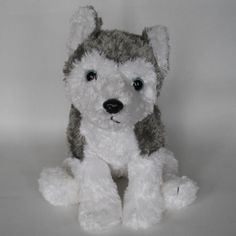 "$34 TY-Classic-Slush-Siberian-Husky-Dog-Plush-Grey-with-Beanbag-11-2001 TY Classic Slush Siberian Husky Dog Plush Grey with Beanbag 11"" 2001 Nice condition. Gently laundered, aired to dry. Plastic dark pupils with blue eyes. Plastic nose. Threaded mouth. Has beans in his belly, hands and feet. Weighs 9 ounces. Thanks for looking!"