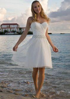 Short dress (good for a beach wedding)