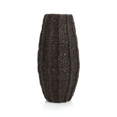 Sunia's Comments: Argyle Dark Floor Vase  | Crate and Barrel. This is a great piece for artificial plants, something you can have year round. This is a piece that doesn't always have to be filled with something.