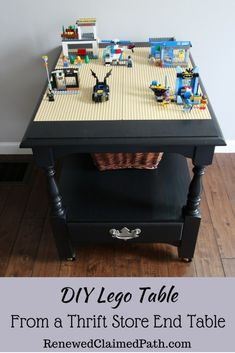 Organize your LEGOS with a DIY LEGO table that also fits into your decor. Click through to see how to make one yourself.