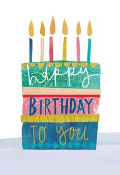 Textured cake - Happy Birthday Card  #greetingcards #printable #diy #birthday