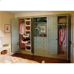 full wall closet ideas do away with sliding closet doors or bi fold country closet system from crown point cabinetry whole wall closet ideas - October 17 2019 at Master Bedroom Closet, Home Bedroom, Master Bedrooms, Bedroom Wardrobe, Wardrobe Wall, Bedroom Closets, Mirror Bedroom, Bedroom Built Ins, Bedroom Ideas