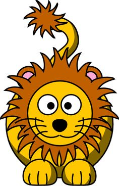 Fun Lion Crochet Graphghan Pattern (Chart/Graph AND Row-by-Row Written Instructions) - 01 Lion Clipart, Butterfly Clip Art, Free Clipart Images, Row By Row, Love Crochet, Zoo Animals, Online Art, Lions, Coloring Pages