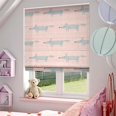 Party Polka Candyfloss Roman Blind from Blinds Blinds And Curtains Living Room, House Blinds, Nursery Curtains, Blinds For Windows, Pink Roman Blinds, Roman Curtains, Childrens Blinds, Colours That Go With Grey, Beautiful Blinds