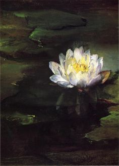John La Farge, Water-Lily, Study from Nature, 1874